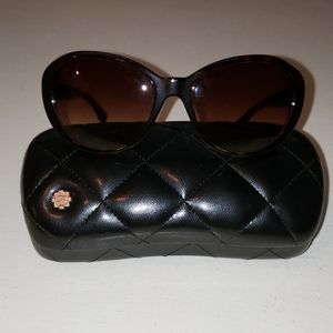 CHANEL AUTHENTIC TWEED STYLE SUNGLASSES WITH CASE